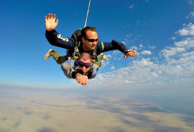 Skydiving Namibia Africa